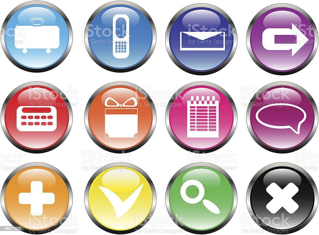 Web icons | Glossy series royalty-free stock vector art