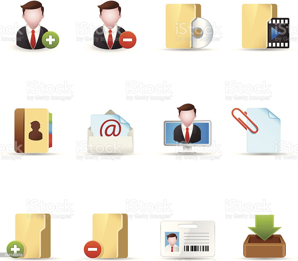 Web Icons - Group Collaboration 2 royalty-free stock vector art
