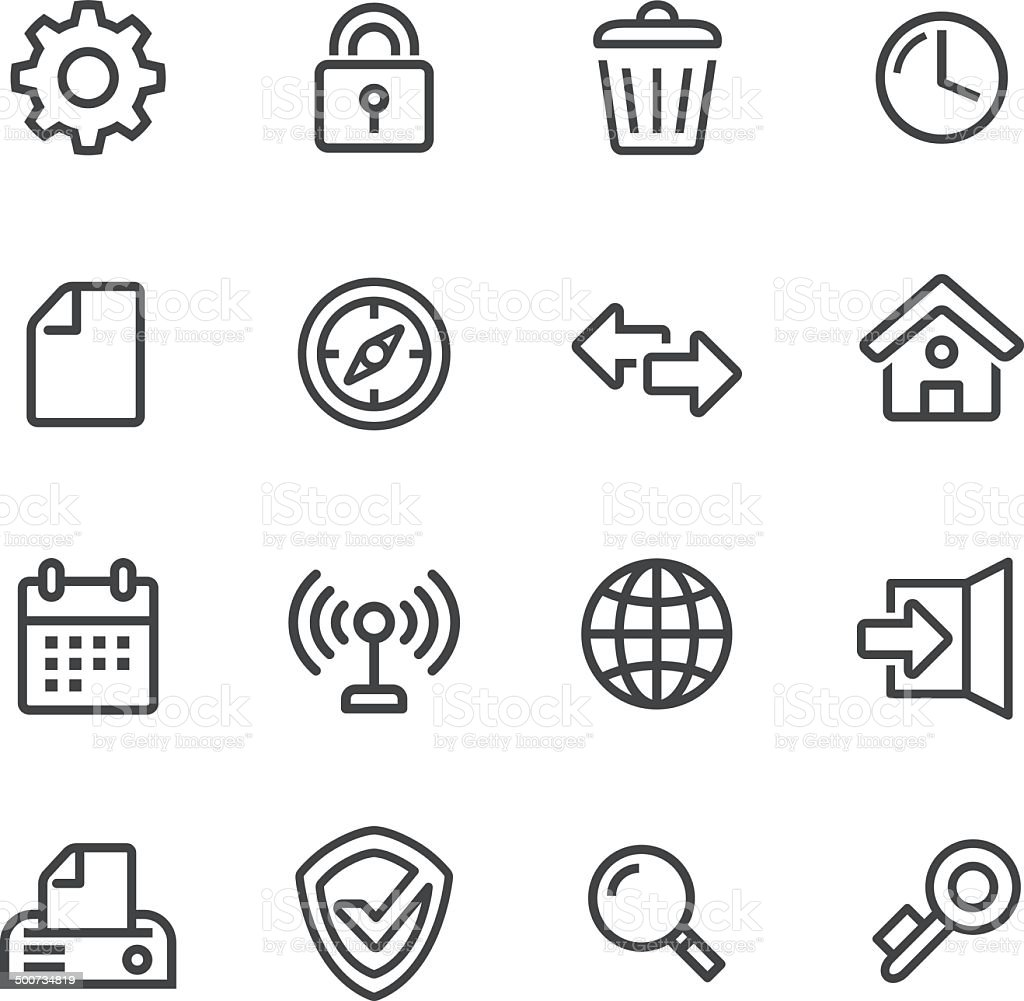 Web Icons - Line Series vector art illustration