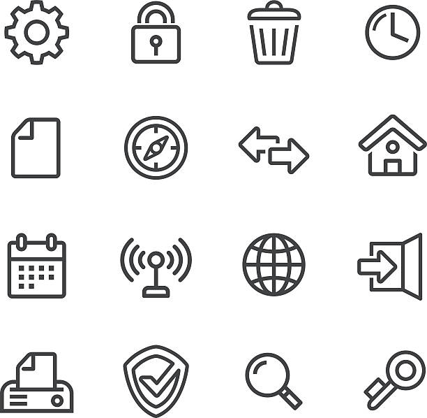 web icons - line series - part of a series stock illustrations, clip art, cartoons, & icons