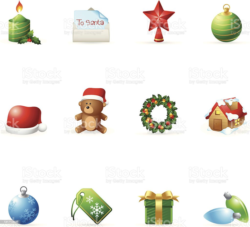 Web Icons - More Christmas royalty-free web icons more christmas stock vector art & more images of bear