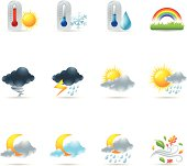 More weather icon set. AI, PDF & hires transparent PNG of each icon included.