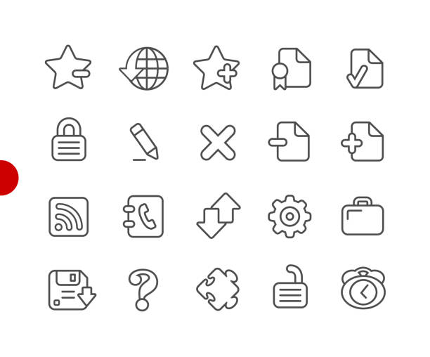 Web Icons // Red Point Series Vector line icons for  your digital or print projects. security equipment stock illustrations