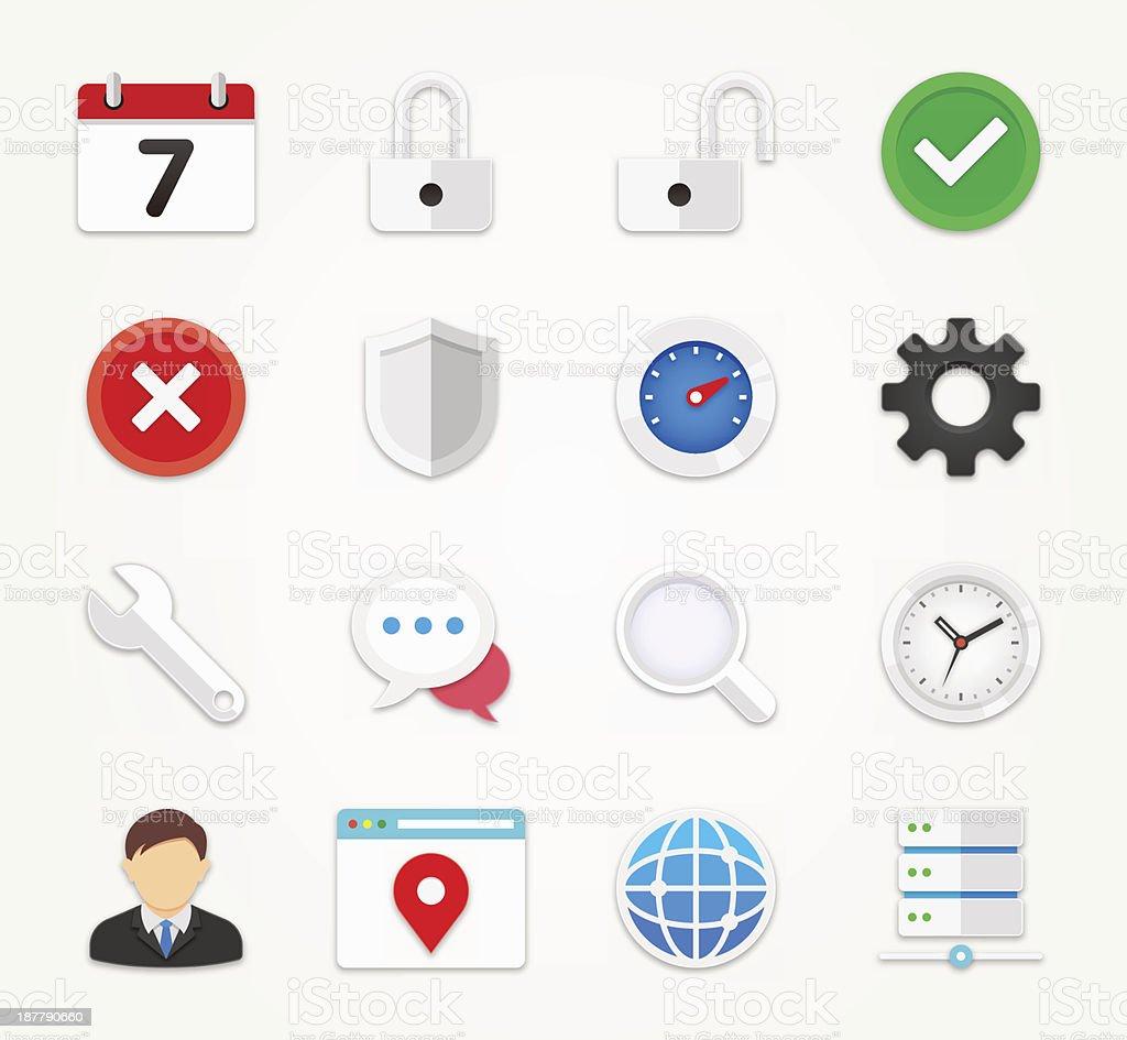 Web icons set   FLAT Series royalty-free stock vector art