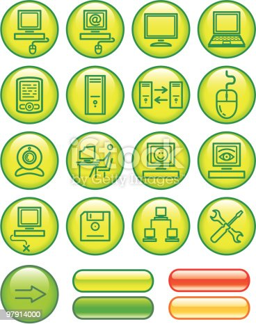 Web Icons Set Hardware Stock Vector Art & More Images of Adult 97914000