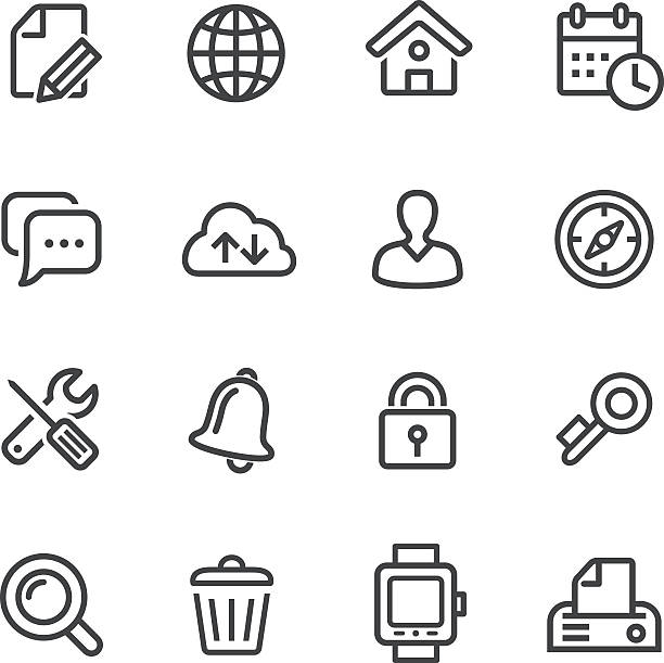 Web Icons Set - Line Series vector art illustration