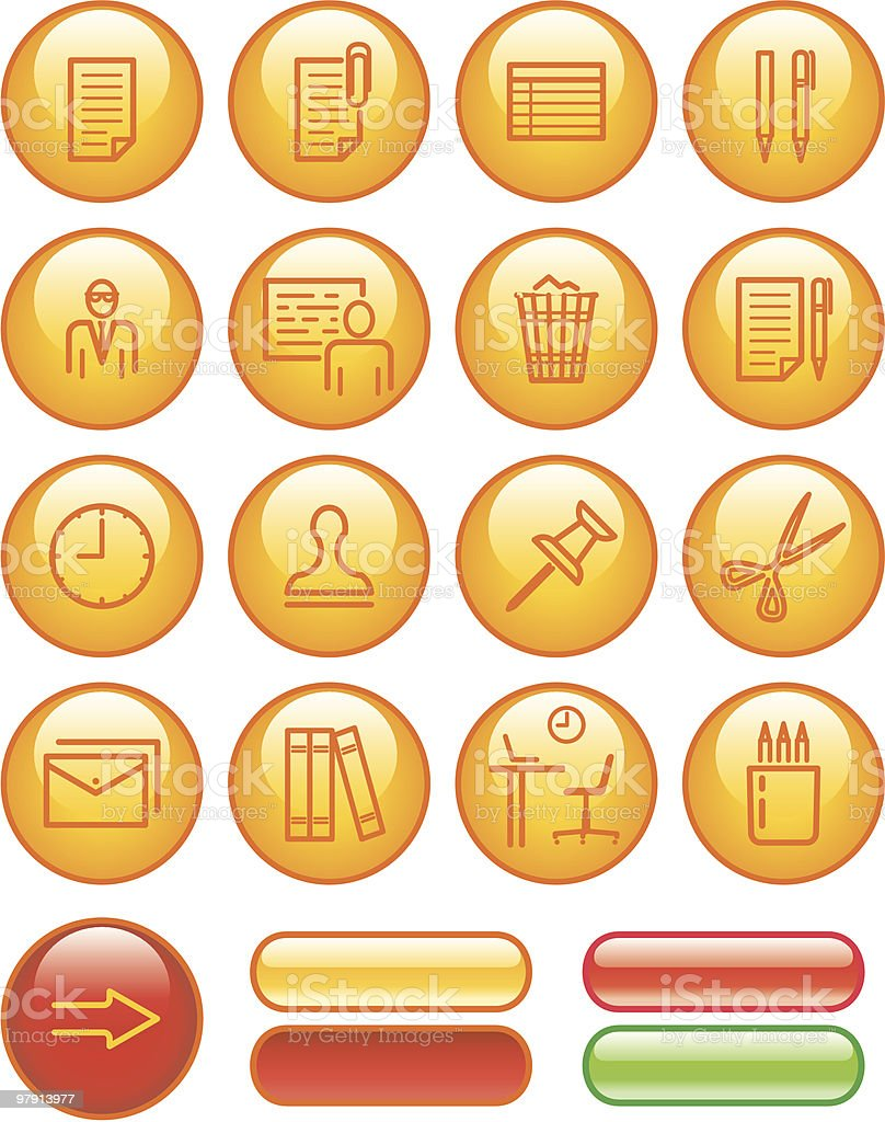 Web Icons Set – Office royalty-free web icons set office stock vector art & more images of adult