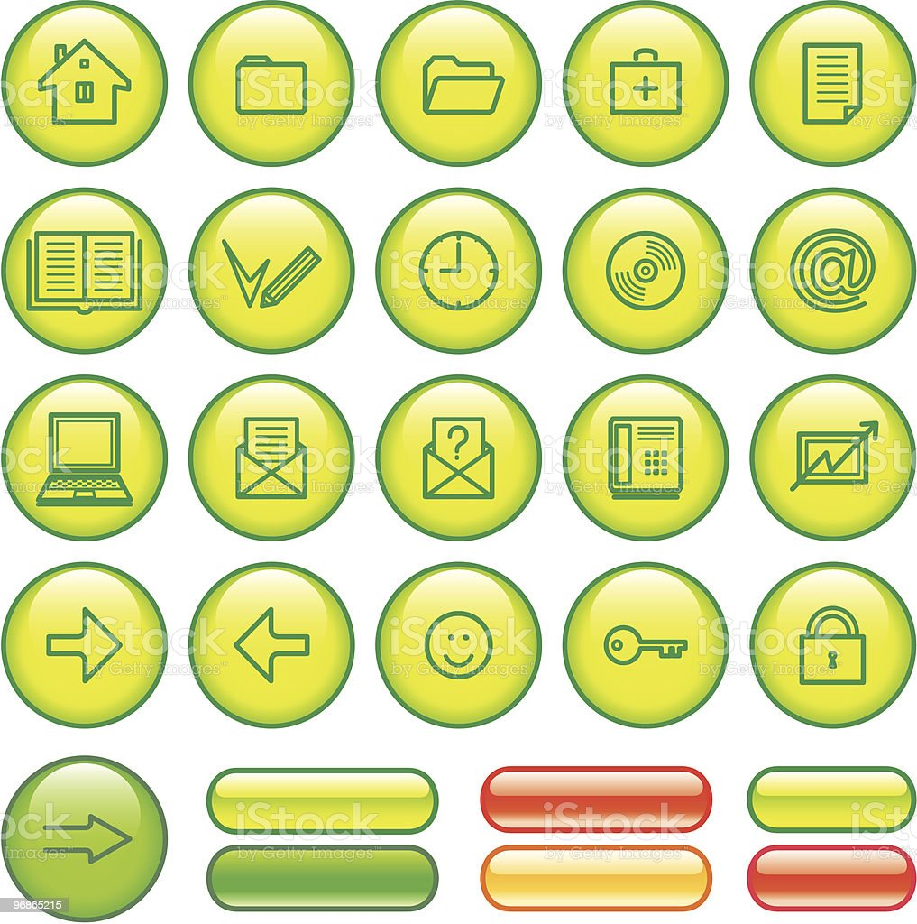 Web Icons Set royalty-free web icons set stock vector art & more images of arrow symbol