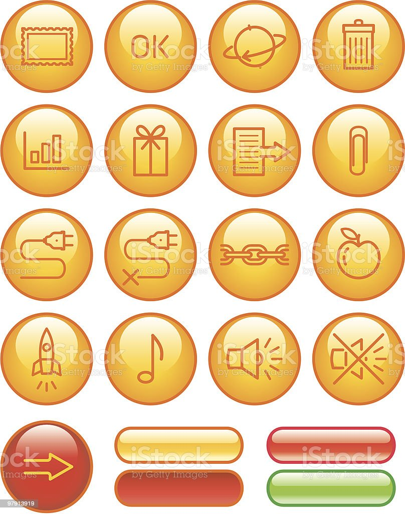 Web Icons Set royalty-free web icons set stock vector art & more images of clip art