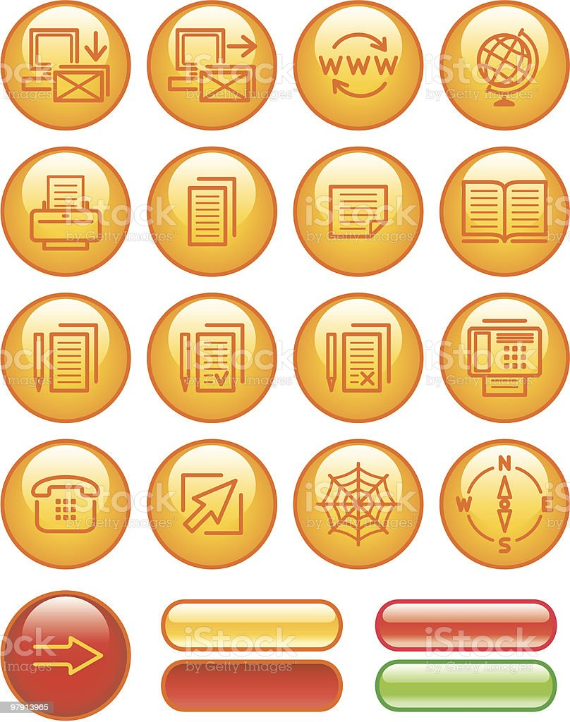 Web Icons Set royalty-free web icons set stock vector art & more images of agreement