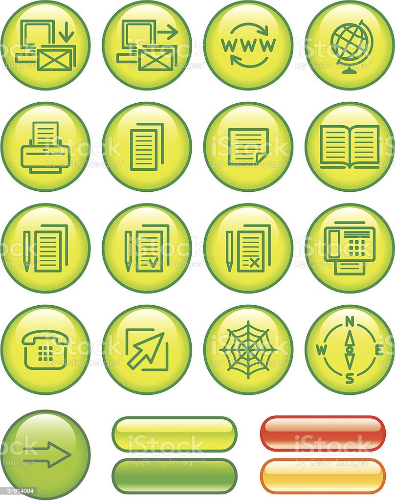Web Icons Set royalty-free web icons set stock vector art & more images of arranging