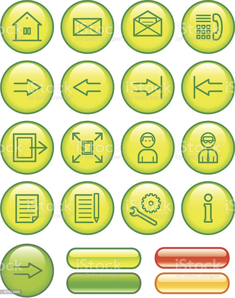 Web Icons Set royalty-free web icons set stock vector art & more images of adult