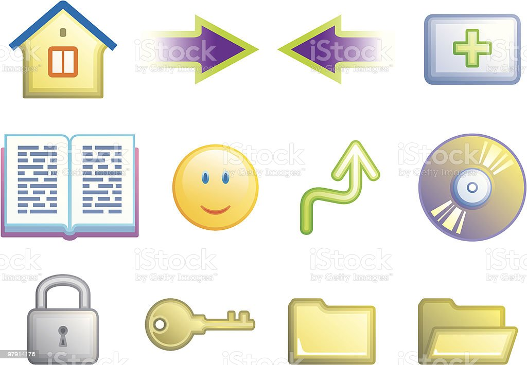 Web icons set royalty-free web icons set stock vector art & more images of anthropomorphic smiley face