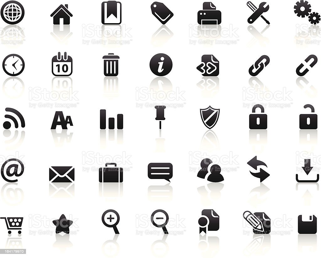 Web Icons (Reflections 2) royalty-free web icons stock vector art & more images of bookmark