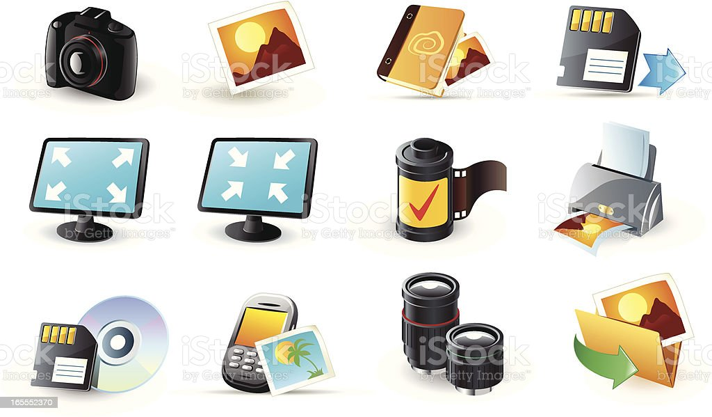 web icons royalty-free stock vector art