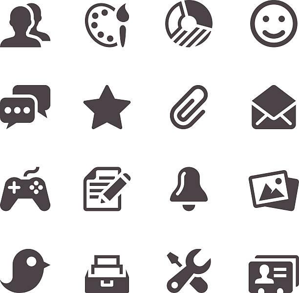 Web-Icons – Vektorgrafik
