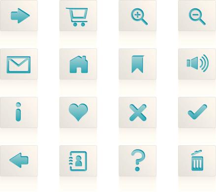 Web / Internet icons, cut-out