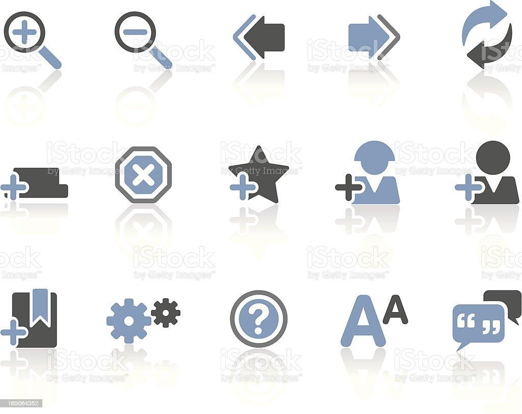 Web & Internet Symbols 02   Sapphire royalty-free stock vector art
