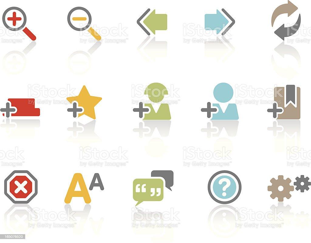 Web & Internet Symbols   Colour royalty-free stock vector art