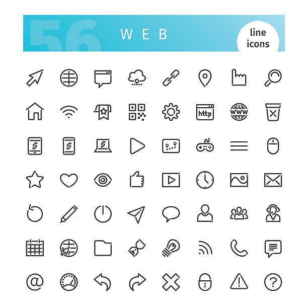 Web Line Icons Set ベクターアートイラスト