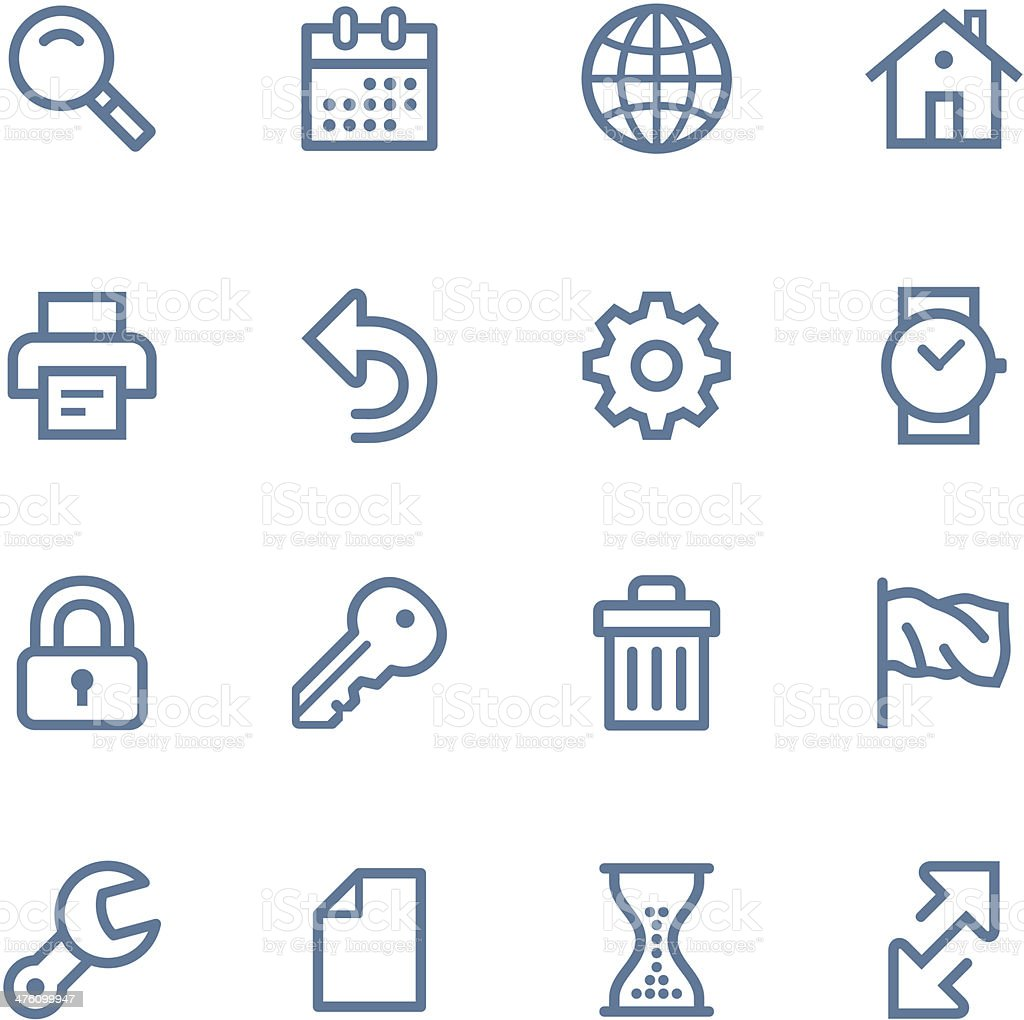 Web Line icons vector art illustration