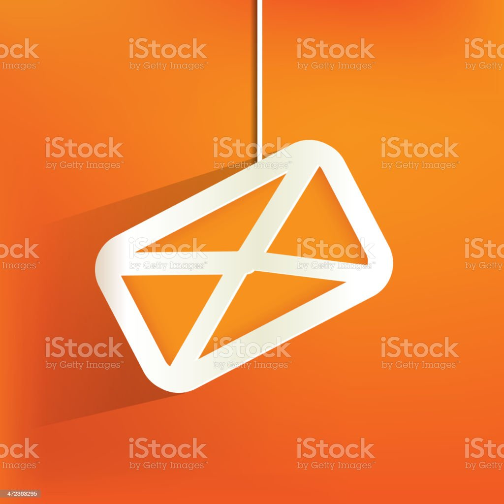 Web mail icon on an orange background royalty-free stock vector art