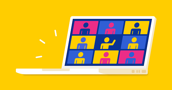 Web Meeting People Laptop