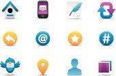 Web & Microblogging icons | Premium Matte series