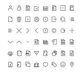 Web mobile friendly icon set