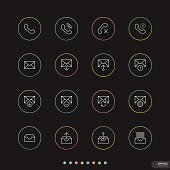 Web & Mobile thin icon sets # 3
