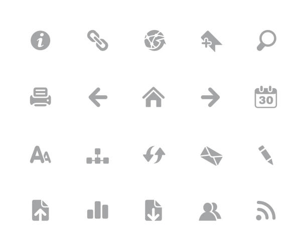 Web Navigation Icons // 32px White Series Vector icons designed to work in a 32 pixel grid. bending over backwards stock illustrations
