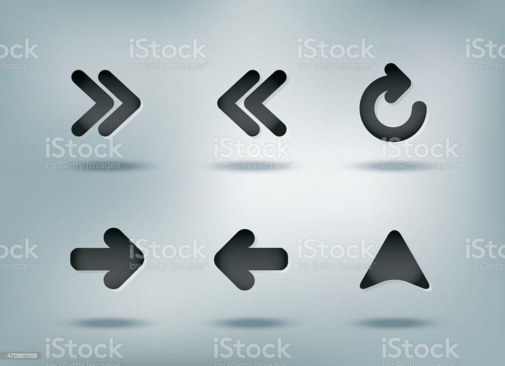 Web navigation icons set royalty-free stock vector art