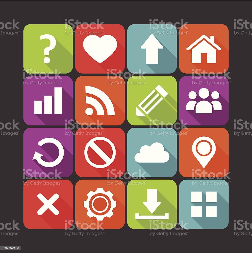 web navigation icons royalty-free stock vector art