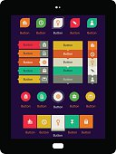 Easy to edit web navigation templates with icons, for websites and internet.