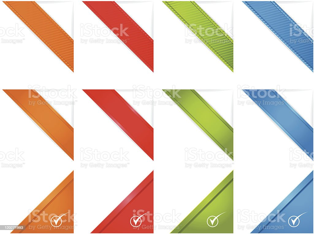 Web Page Corner Ribbons vector art illustration