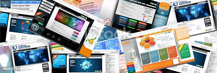 istock Web page design concept 490507712