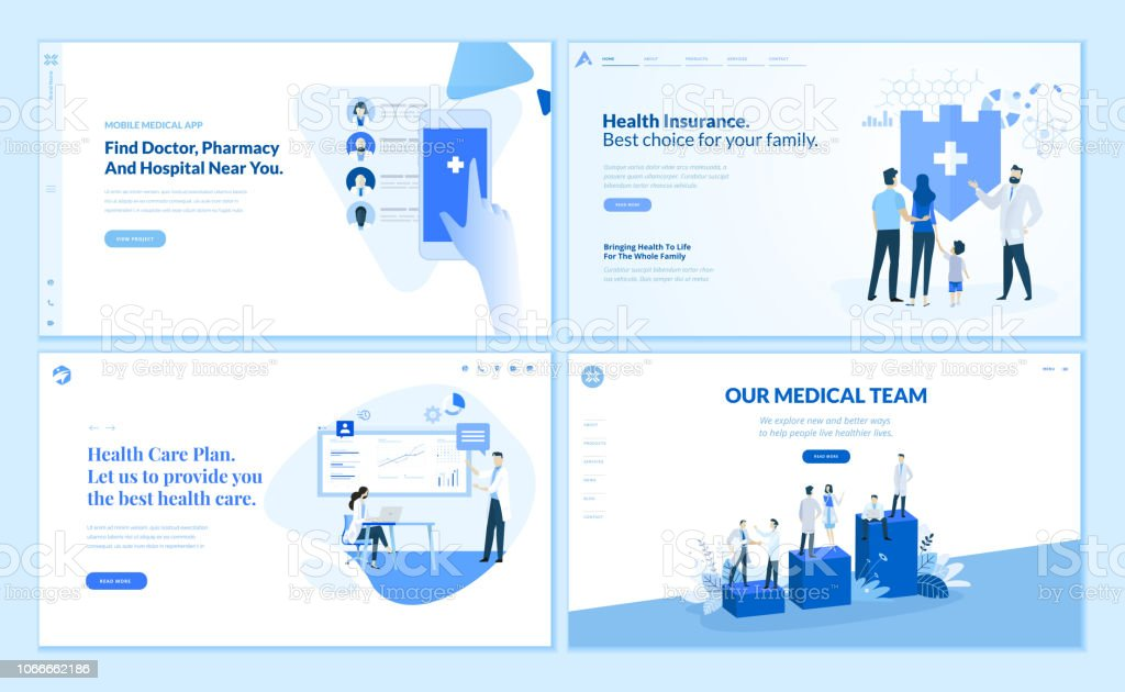 Web Page Design Templates Collection Of Health Insurance Health Care