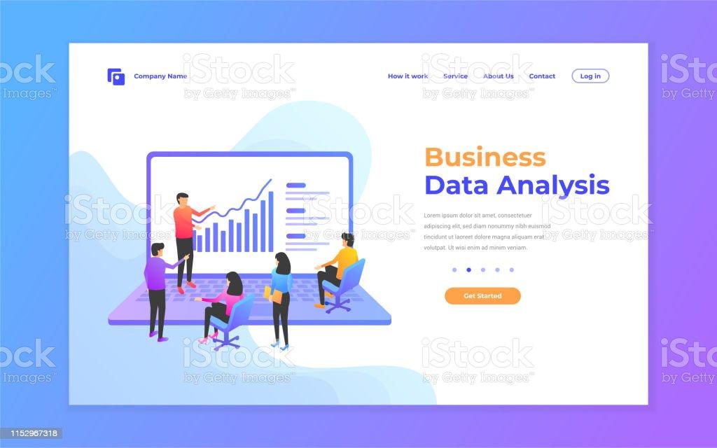 Web Page Design Templates For Data Analysis Digital Marketing