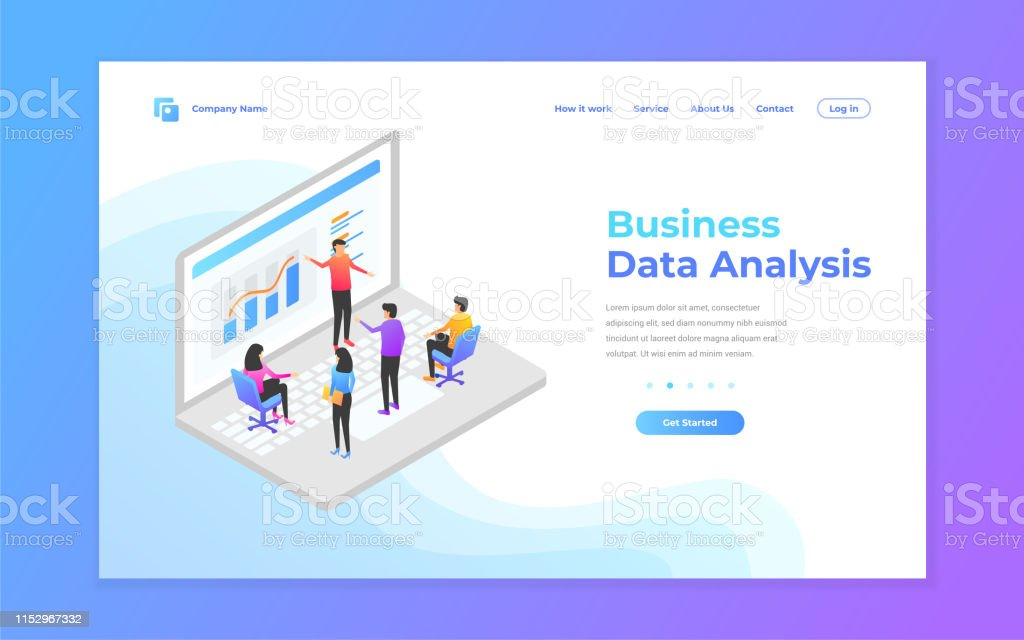 Web Page Design Templates For Data Analysis Digital Marketing