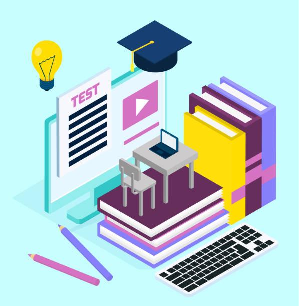 web ページデザインテンプレート - 語学の授業点のイラスト素材/クリップアート素材/マンガ素材/アイコン素材