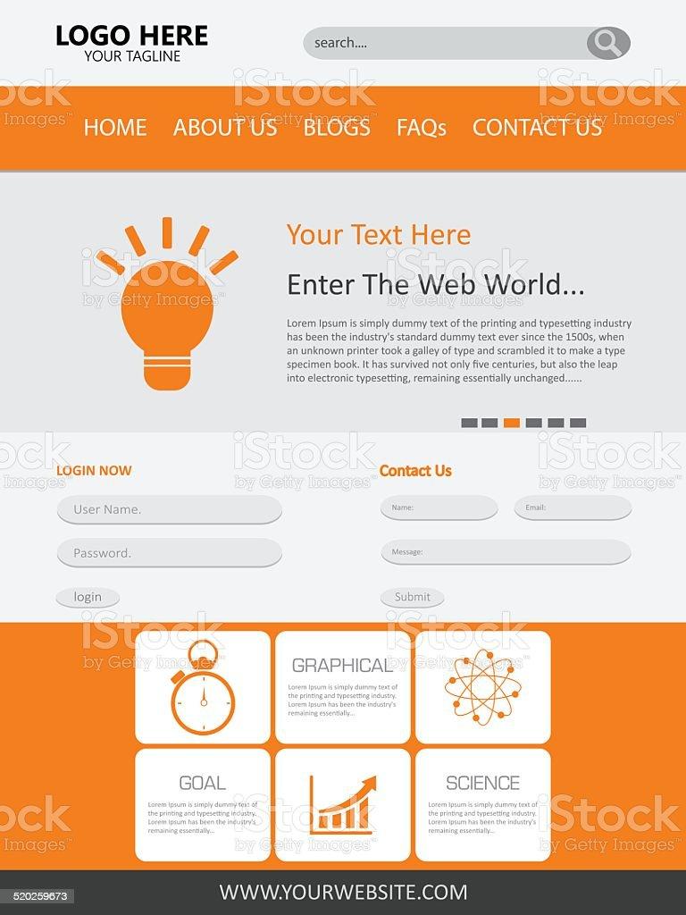 Ilustración de Vector De Diseño De Plantilla De Página Web y más ...