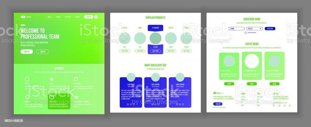 Web sayfası tasarlamak vektör. Web sitesi iş kavramı. Web tasarım ve geliştirme. Açılış şablonu. Küresel izleme. Global Yatırım. Şifreleme çiftlik. İllüstrasyon - Royalty-free Basitlik Vector Art