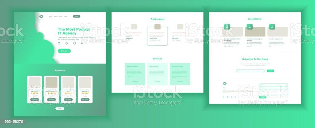 Web Page Design Vector. Website Business Reality. Site Scheme Template. Invest Conference. Innovation Cyberspace. Responsive Blank. Illustration - Grafika wektorowa royalty-free (Aplikacja mobilna)