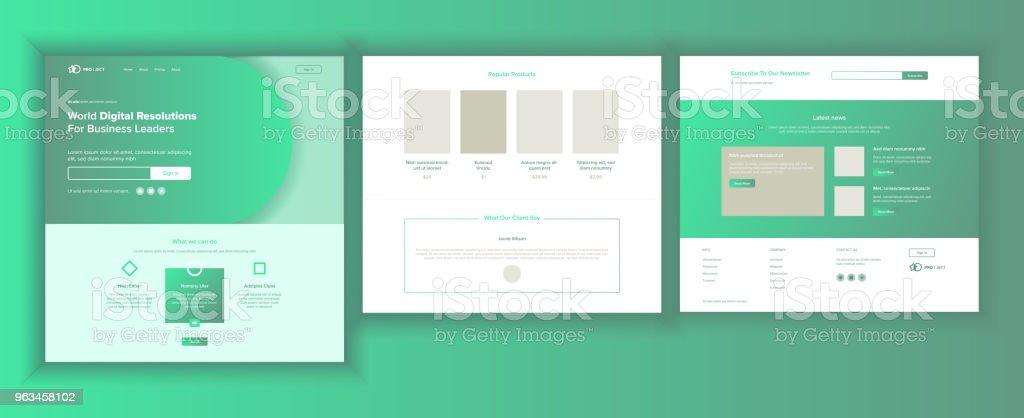 Web sayfası tasarlamak vektör. Web sitesi iş ekran. Internet trafiği. Açılış şablonu. Şirket temettü. Siber Pazartesi. Strateji planlama. İllüstrasyon - Royalty-free Başlık - Tasarım Öğesi Vector Art
