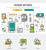 web page header template - payment methods