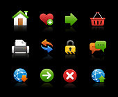 Web Page Icons  // Black Background