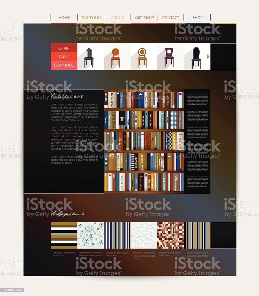 Dise O De P Gina Web Muebles De La Empresa Illustracion Libre De  # Muebles Pagina Web