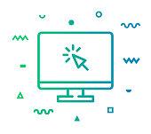 istock Web Page Line Style Icon Design 1154174475