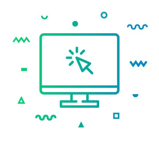 illustrations, cliparts, dessins animés et icônes de conception d'icône de style de ligne de page web - www