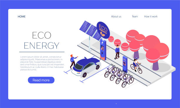 Web page template. Eco transport isometric design concept with some available bicycles for rent at station and cashier machine for payment vector illustration. Web page template. Eco transport isometric design concept with some available bicycles for rent at station and cashier machine for payment vector illustration. electric vehicle stock illustrations